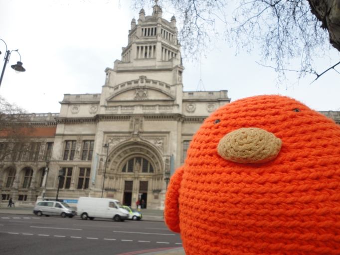 Bert outside the V&A