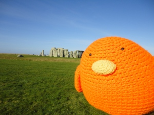 Bert at Stonehenge - he looks huge in this photo!