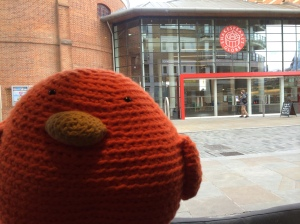 Bert checking out the Globe Theater
