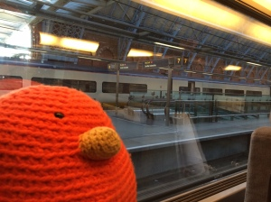 Bert jumps on the train from London to Paris