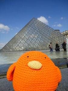 Bert with the Louvre Pyramid