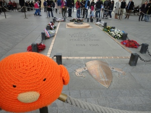 Bert pays his respects at the Tomb of the Unknown Soldier