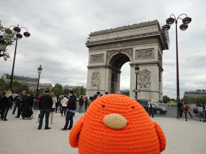Bert loves the Arc de Triomphe!
