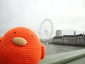 Bert heading to the London Eye