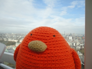 Bert loves the London Eye!