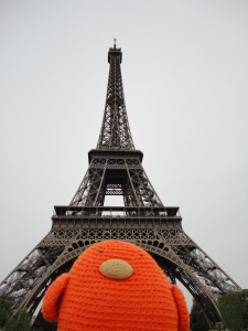 Bert at the Eiffel Tower