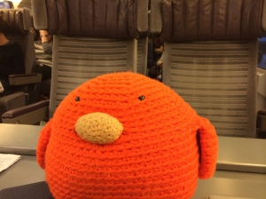 Bert on the train home - but he'll be back in Paris soon!