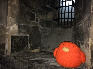 Bert in the Christ Church Cathedral Crypt