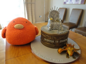Bert with Skye's 'Game of Thrones' Birthday Cake