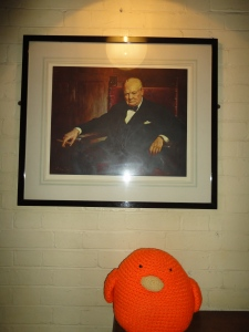 Bert with Winston Churchill