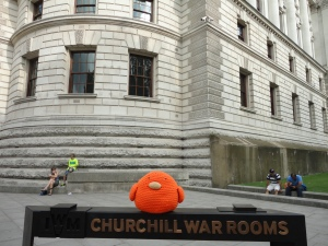 Bert at the Churchill War Rooms
