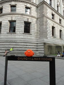 Bert at the Churchill War Rooms!