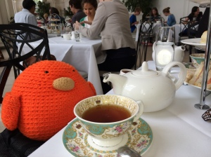 Bert enjoying some afternoon tea