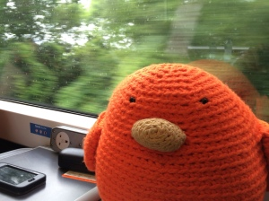 On a train to Stratford Upon Avon!