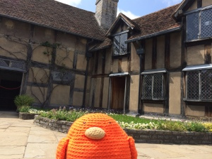 Bert at Shakespeare's childhood home